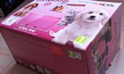 Bundle Nintendo 3DS Coral Pink Nintendogs cats debllage unboxing logo vignette 26.01.2012