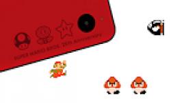 Nintendo DSi XL rouge spécial Mario 25 ans logo